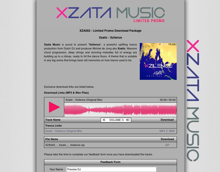 Xzatic – Xzilence Airplay & Support! Ian Standerwick, Manuel Le Saux & more!