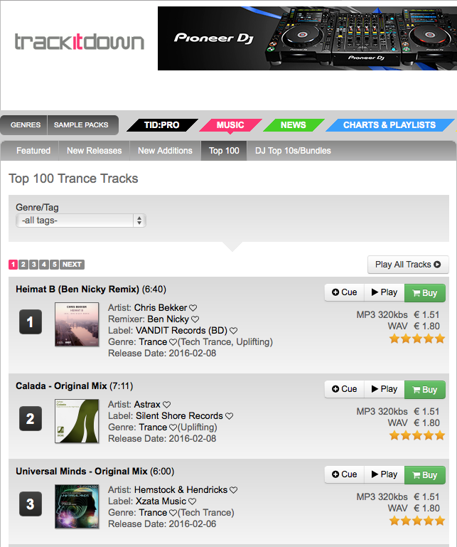 Universal Minds is at No. 3 in the Trackitdown Trance Top 100 Chart!!