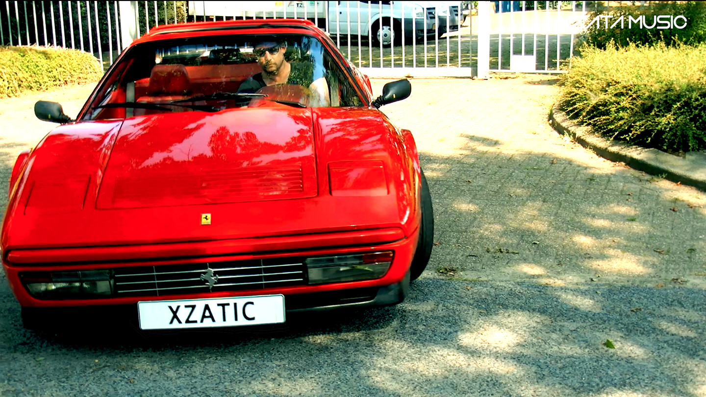 Xzatic cruising around in Ferrari in upcoming videoclip