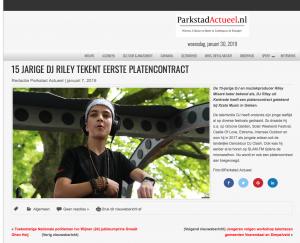 DJ riley featured in Parkstad Actueel