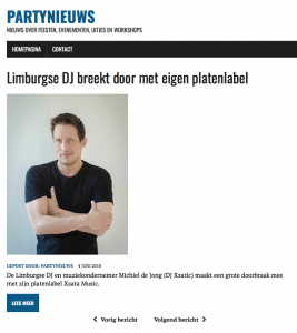 Xzatic supported by Partynieuws