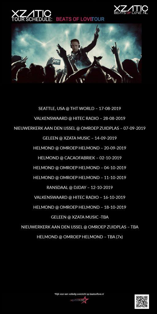 Xzatic Tour Schedule