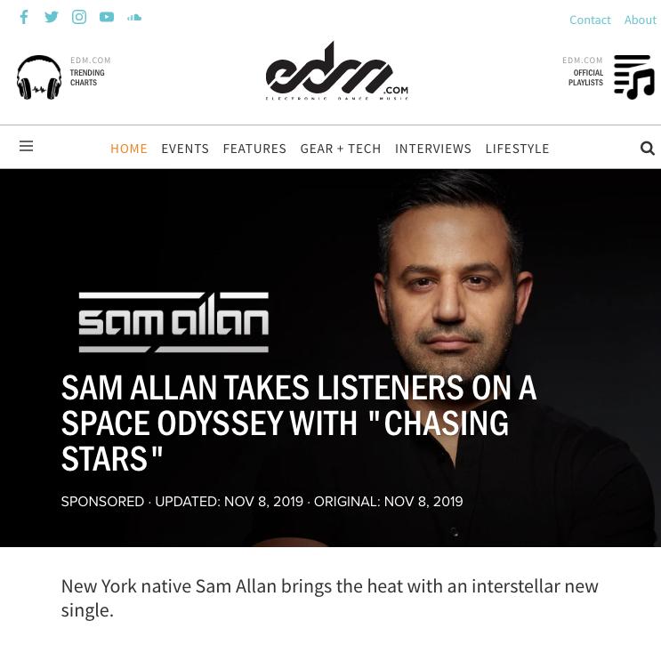 Sam Allan Featured at EDM.COM