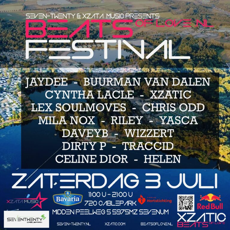 DJ XZATIC & CYNTHIA LACLÉ ORGANISEREN BEATS OF LOVE FESTIVAL
